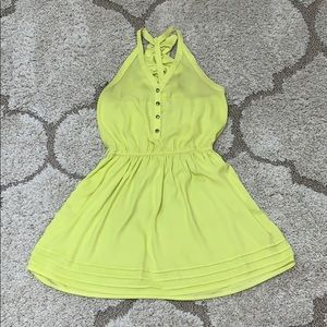 Bright yellow/green dress